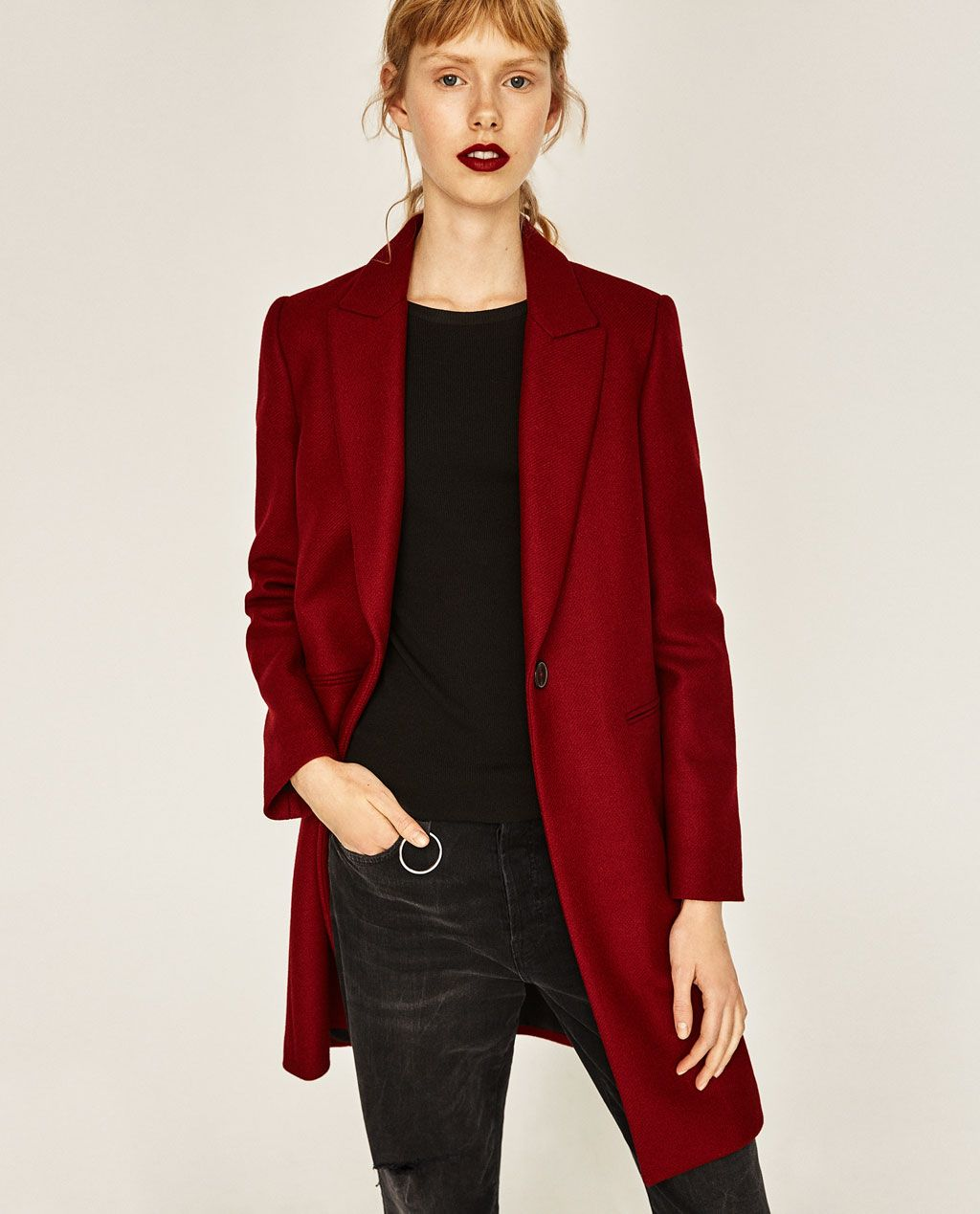 MASCULINE COAT-View all-OUTERWEAR-WOMAN | ZARA Italy | just chic ...