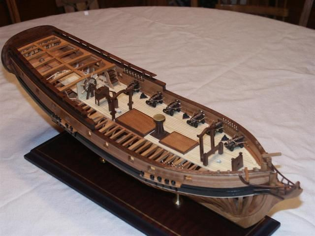"Ship model ""Fair American"" 1776 14-gun brig  From source unknown"
