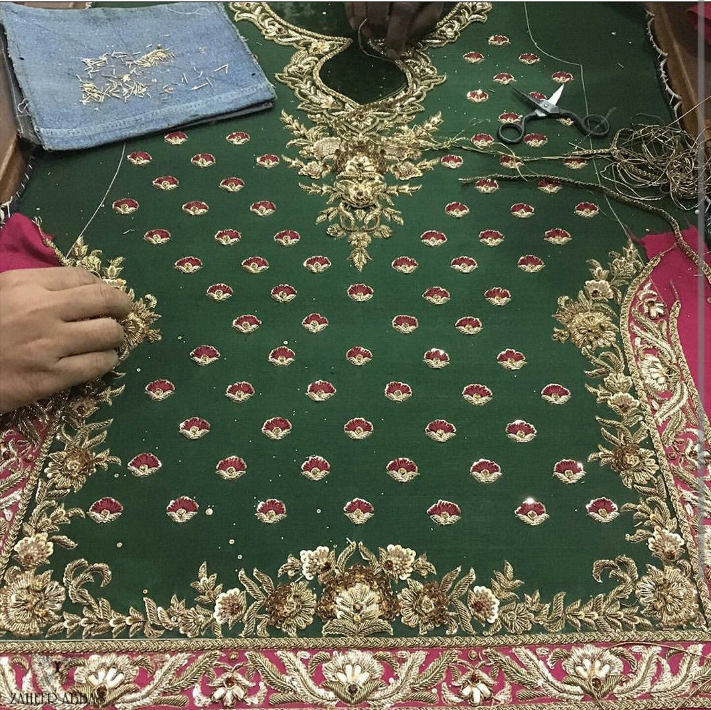 Pin By Zooni Ahmed On Embriodry Details Hand Embroidery Dress Hand Embroidery Videos Bridal Bangles
