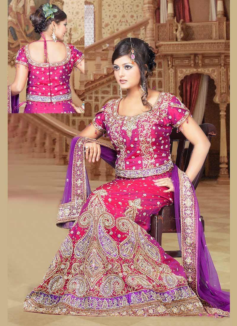 Dual Shade Lehenga Choli | India Fashion for Her | Pinterest