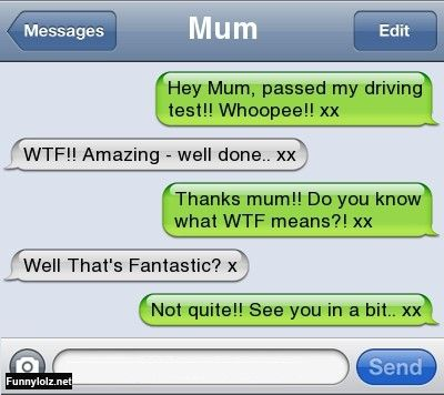 new meaning mum misunderstanding chat text funny texts