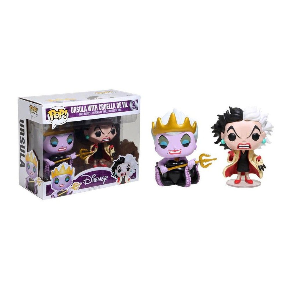 Disney 2-Pack Set Vinyl figurine Funko Ursula with cruelle de vil Pop