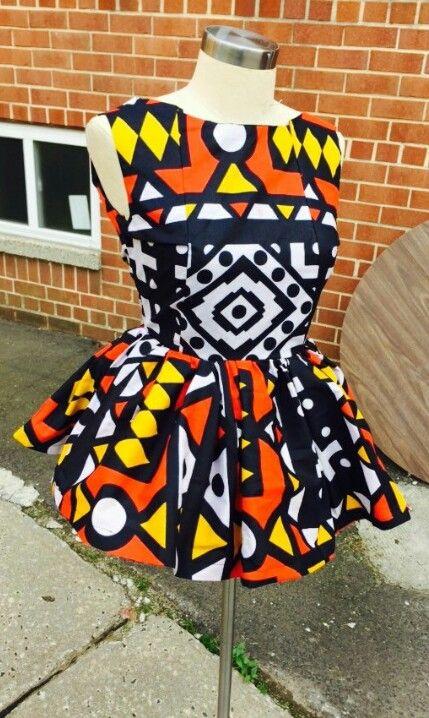 d94e62cc578296 Ankara peplum top … | African prints | Afric…