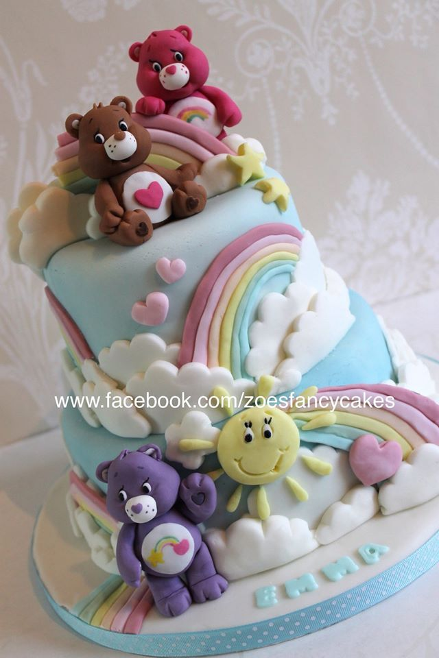 Carebear Cake Polymer Clay Pinterest Cake Care Bear Cakes And