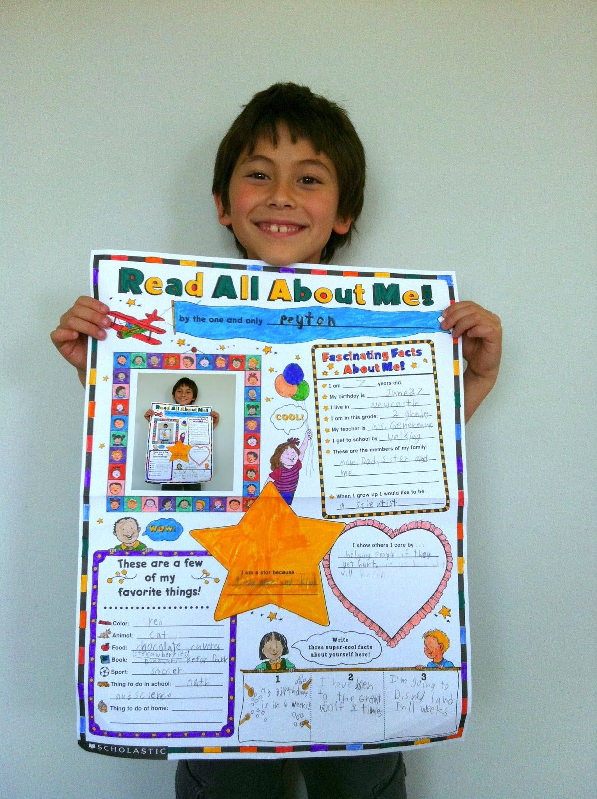 the contemplative creative: school project : about me poster