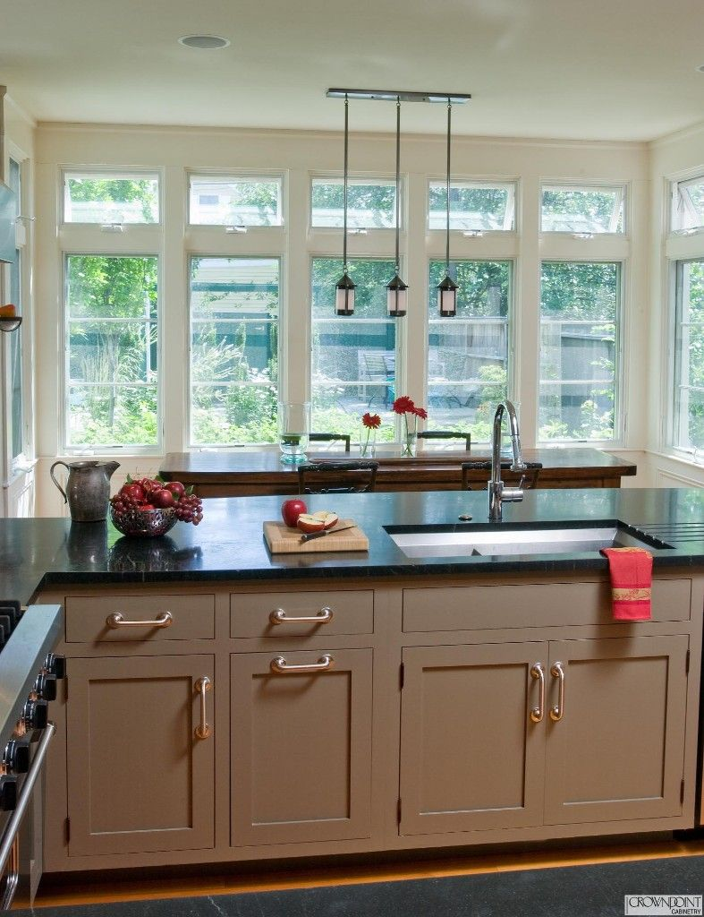 Love the sink in the peninsula with storage on either side and the ...