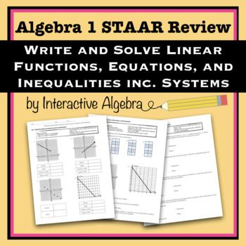 STAAR Algebra Review 3 Writing Solving Linear Equations