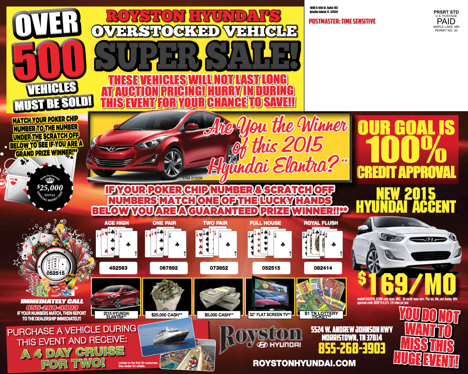 Automotive Direct Mail >> 12 X 15 Hyundai Biggest Vehicle Sale Automotive Direct Mail Folded