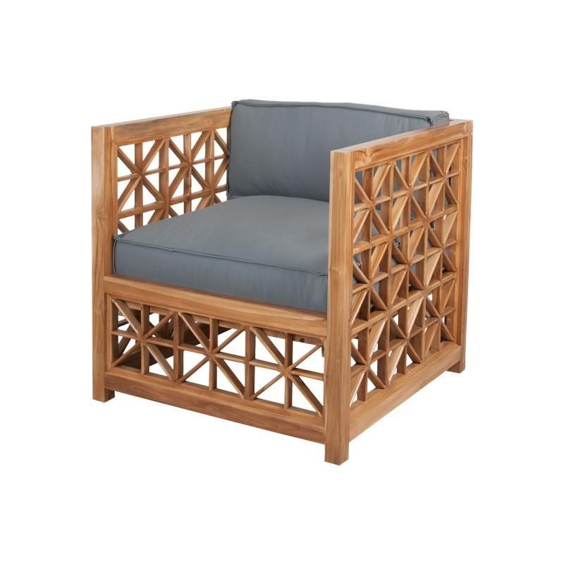 Guild Master Teak Lattice Chair Cushions Set Of 2 Teak Furniture Outdoor Chair Cushions Teak Oil