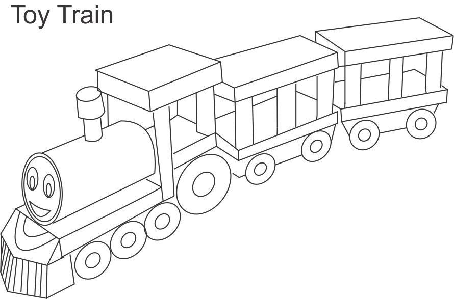 Train Coloring Pages Toy Train Coloring Page For Kids Toys