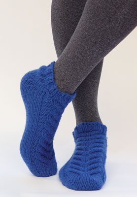 Simpliworsted Baronial Slippers   Slippers, Leg warmers ...