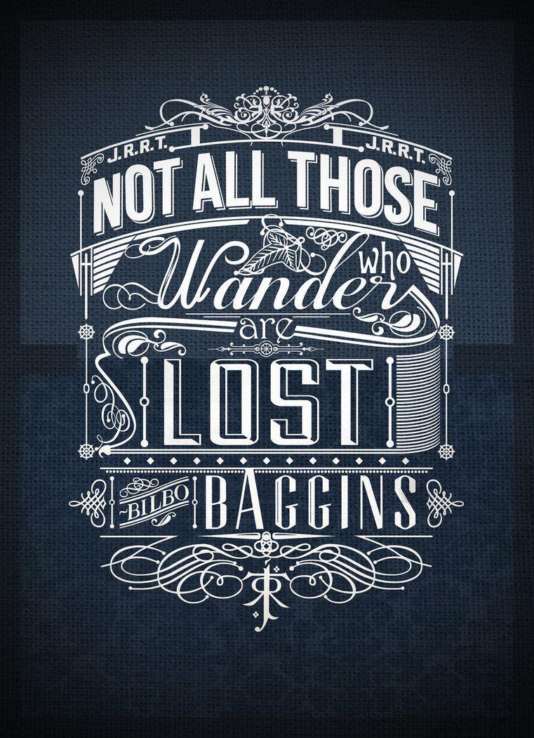 T shirt design inspiration typography - Tolkien Typography By Jss743 On Deviantart