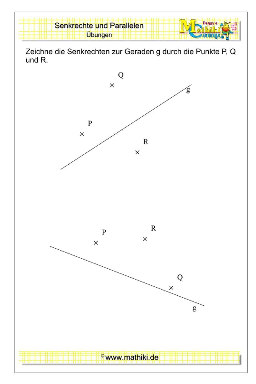 Senkrechte zeichnen (Klasse 5/6) - mathiki.de in 2020 | Mathematikunterricht, Mathe, Matheaufgaben