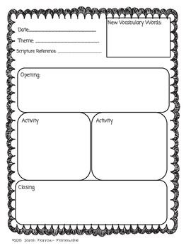 sunday school or bible lesson plan template  bible