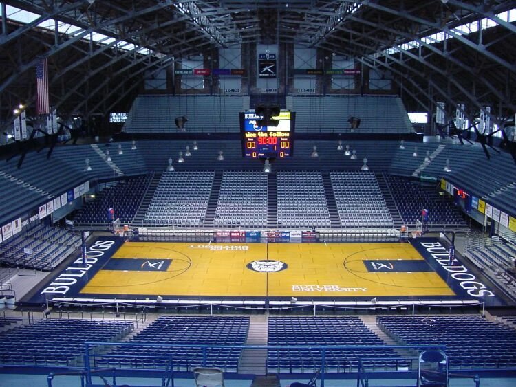 Go Bulldogs! | Hinkle Fieldhouse Inside Center Court Upper Deck
