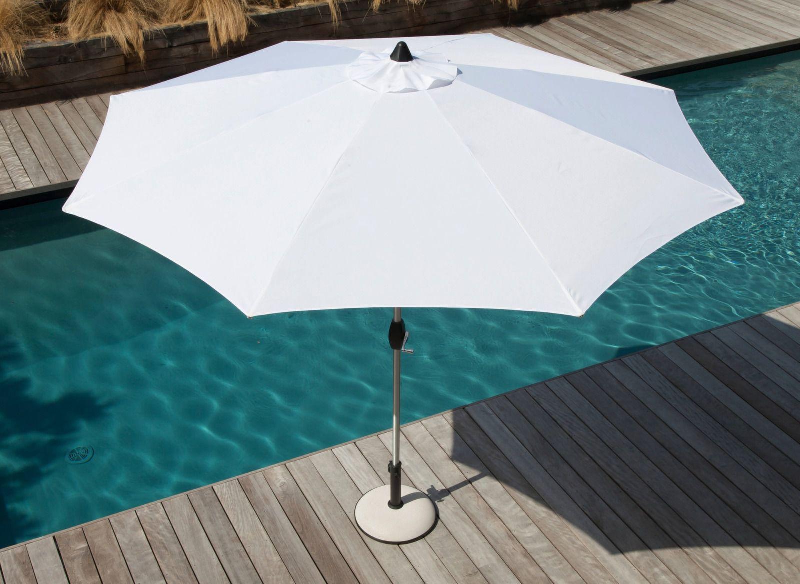 Parasol droit Ø 300 cm | Mobilier jardin, Mobilier de jardin ...