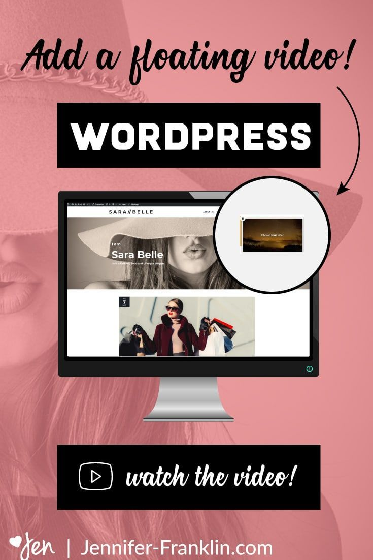 How To Add A Sticky Floating Youtube Video To Wordpress Wordpress Blogging Branding Wordpress Design Tutorial