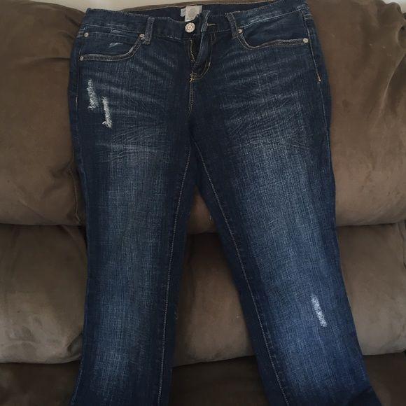 Gap boyfriend jeans Perfect condition straight leg slightly distressed. GAP Jeans Straight Leg