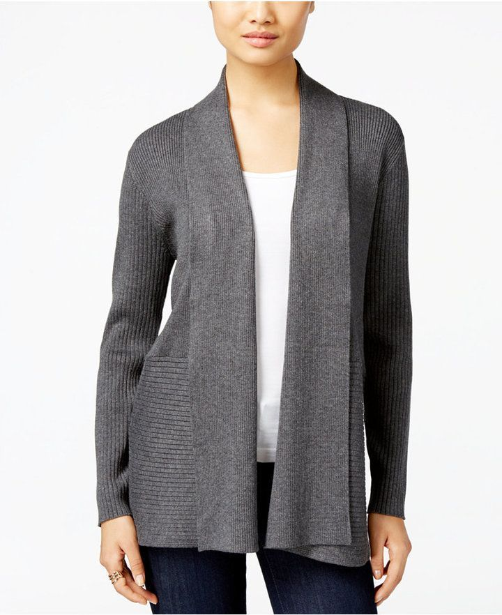 JM Collection Open-Front Cardigan, Created for Macys