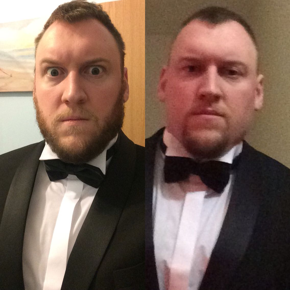 Daniel Craig rip off before and after reporting for duty.