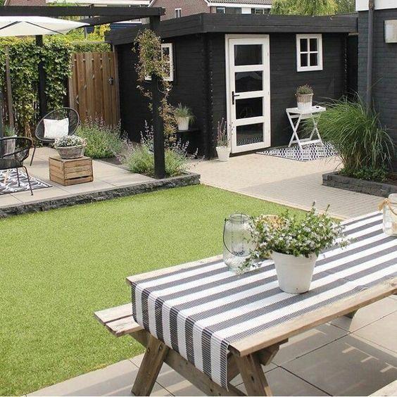 garden design ideas for a long narrow garden # ...
