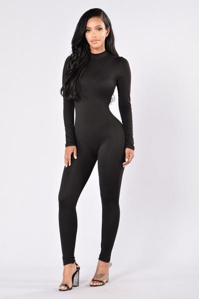 Frisky Feline Jumpsuit - Black  Fashion Nova Bodysuit -1641