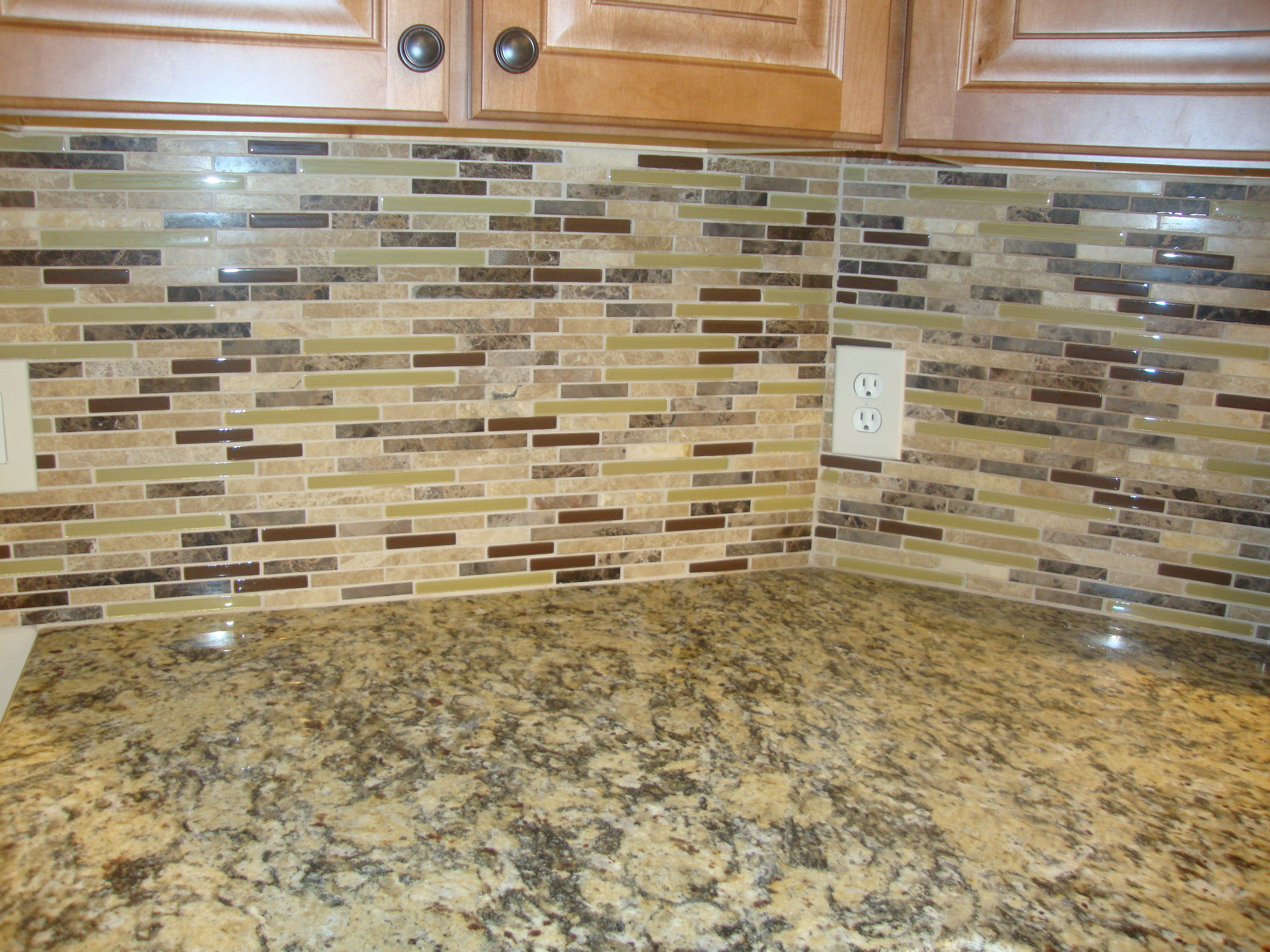 Glass Stone Mosaic Santa Cecilia Granite Kitchen Backsplash Pinterest Santa Cecilia