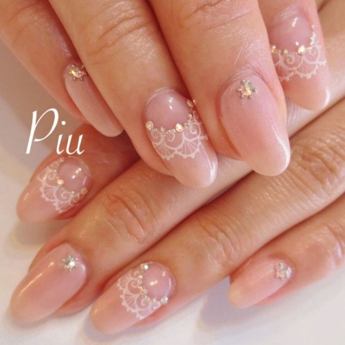 Lace nail style #nail #idea