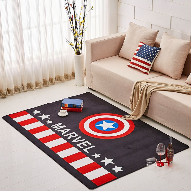 American rug modern minimalist personalized creative mat living room coffee mat study balcony bedroom marvel usa carpet pad