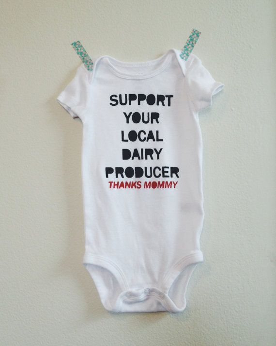 onesie support your local dairy by lulaball onesie support your local dairy producer