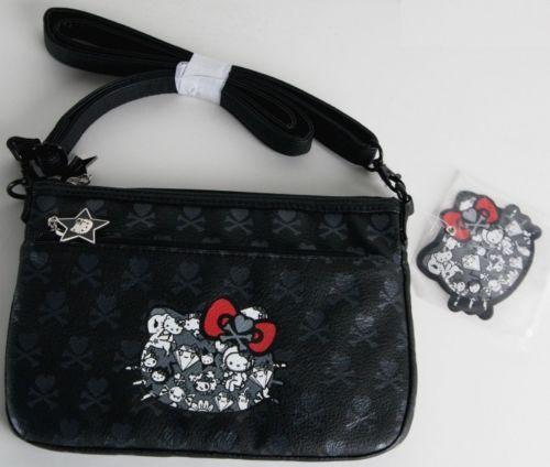 76ef9c80f529 Tokidoki-Sanrio-Black-Hello-Kitty-Boston-Crossbody-Messenger-Bag-4653