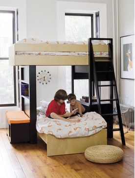 Argington Uffizi Bunk Bed With Bench Modern Kids Beds Can Be Orie