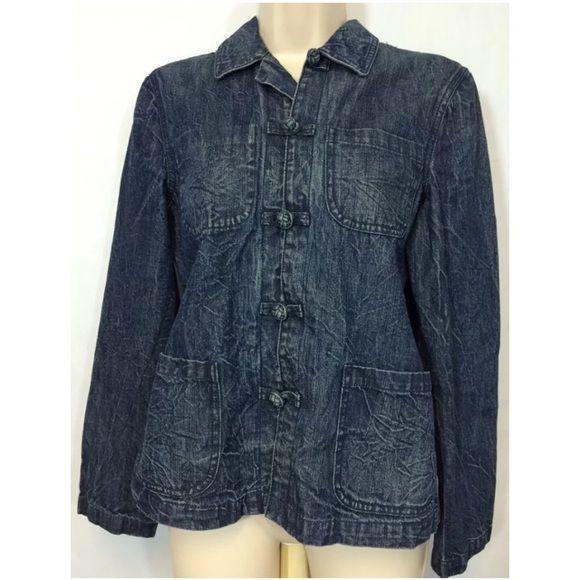 Ralph Lauren Jeans Denim Jacket Knot Button Ralph Lauren Jeans Denim Jacket Knot Buttons Size Medium Ralph Lauren Jackets & Coats
