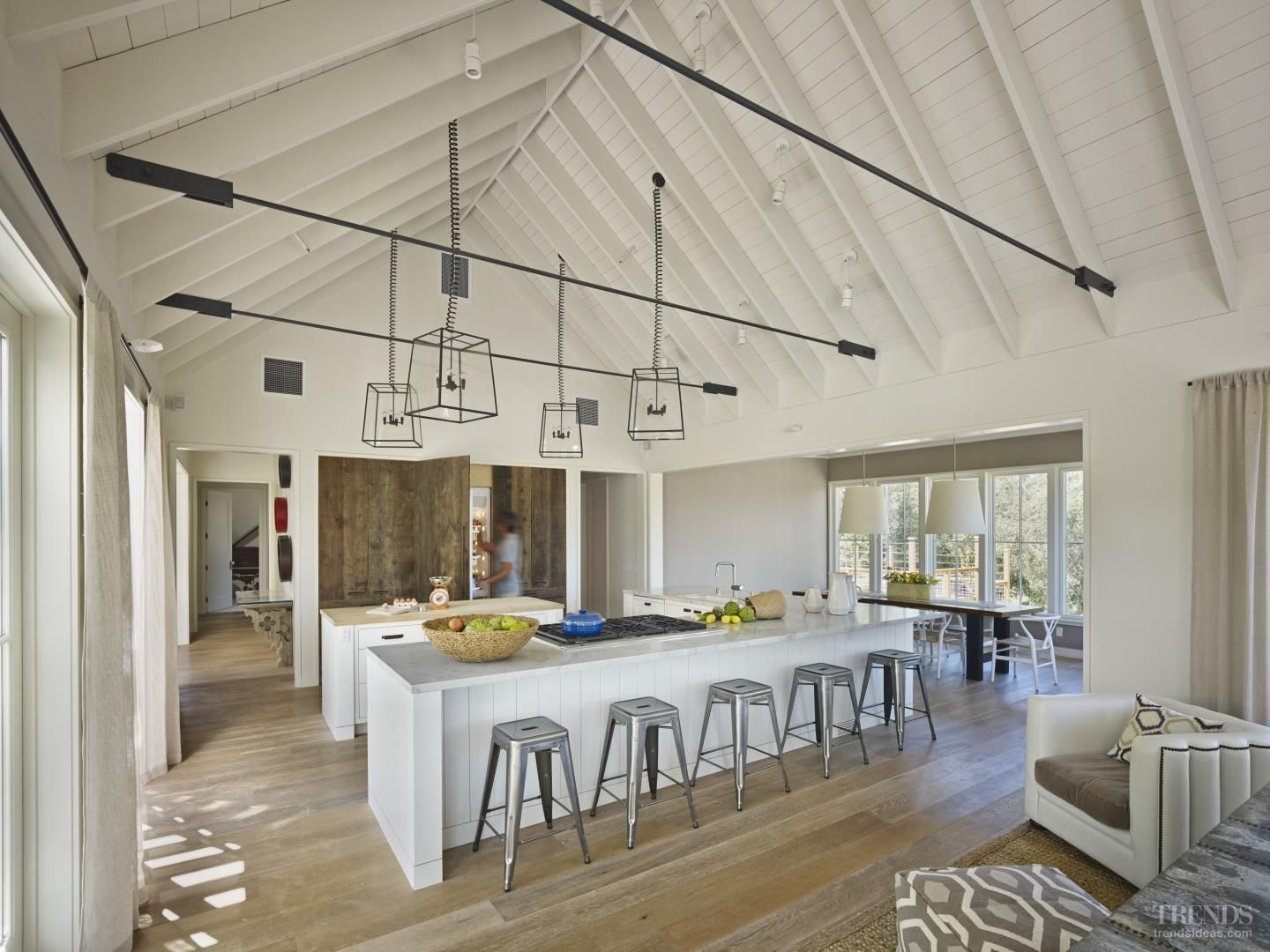 Off the land pitched ceiling built that way pinterest