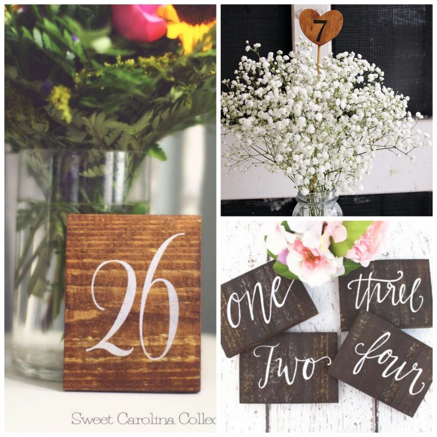 Rustic Wooden Table Numbers – Rustic Weddings