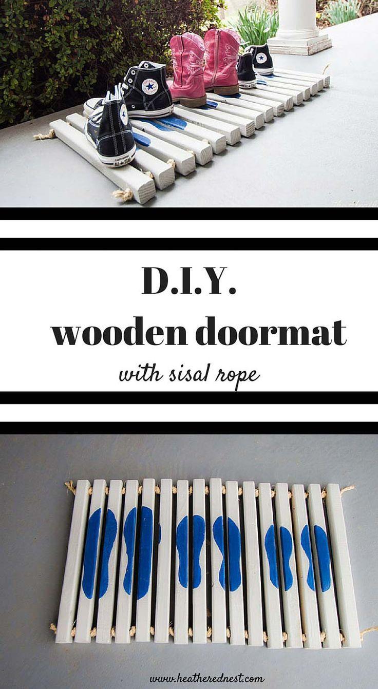 DIY Doormat Tutorial | Door mat, Door mats and Diy door mats