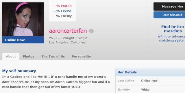 Woman Creates 'Worst Online Dating Profile Ever,' Gets
