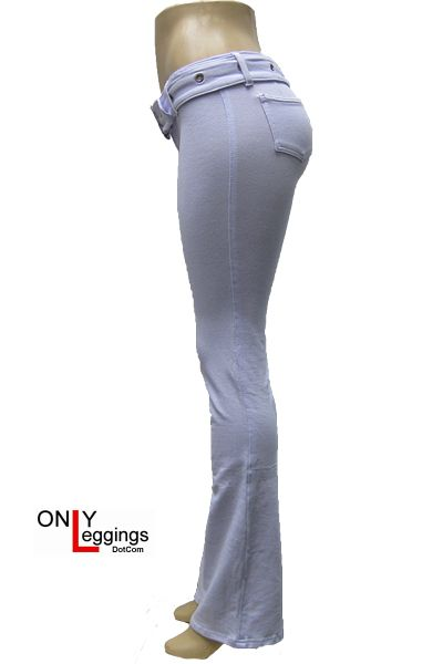 Seduce Me Belted Cotton Legging Side White    (May get these after I lose some weight.)