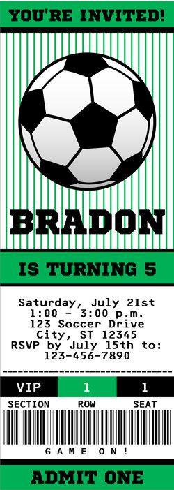 Texto Editable de fútbol invitación cumpleaños por thispartyofmine 66f0a0702174e
