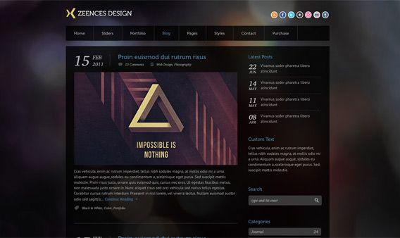 Zeences Dark u2013 Free HTML Template Free HTML Pinterest Free - free resume html template