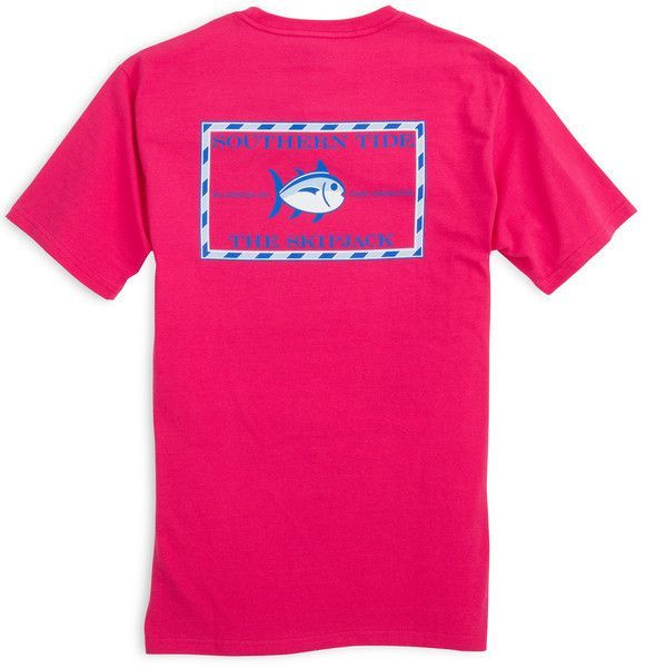 Southern Tide Tee- Original Skipjack- Dark Pink from Shop Southern Roots TX