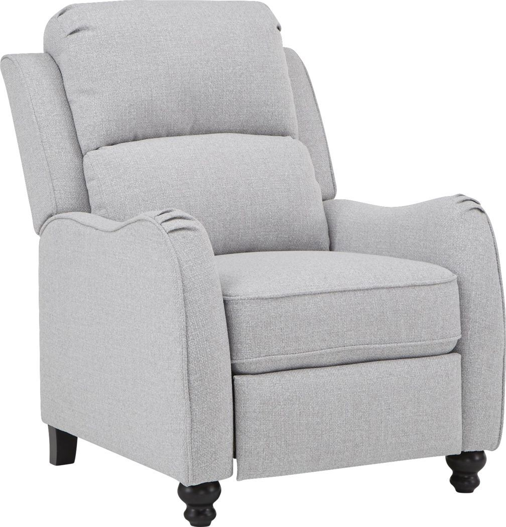 Millcole Gray Pushback Recliner Furniture Recliner Room