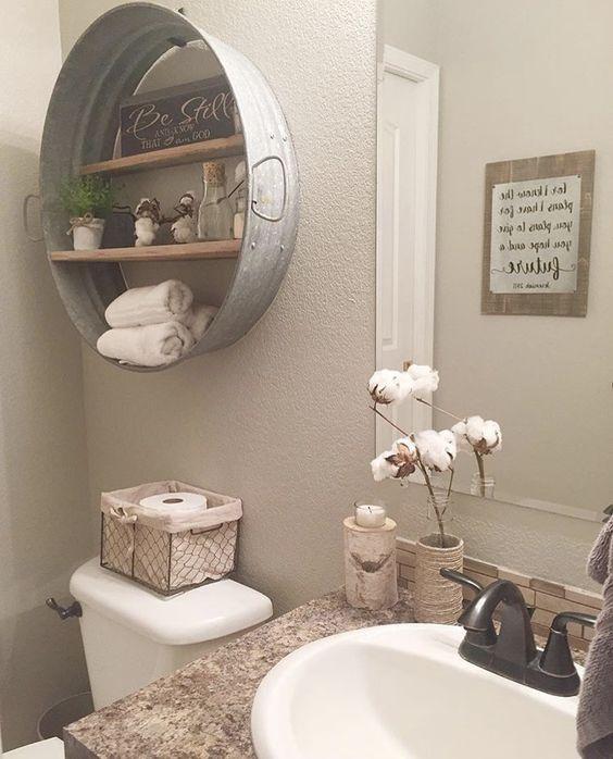 Shelf Idea For Rustic Home Project Farmhouse Bathroom Decor Easy Home Decor Bathroom Decor