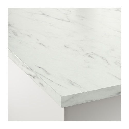 Ekbacken Countertop White Marble Effect Laminate 74x1 1 8