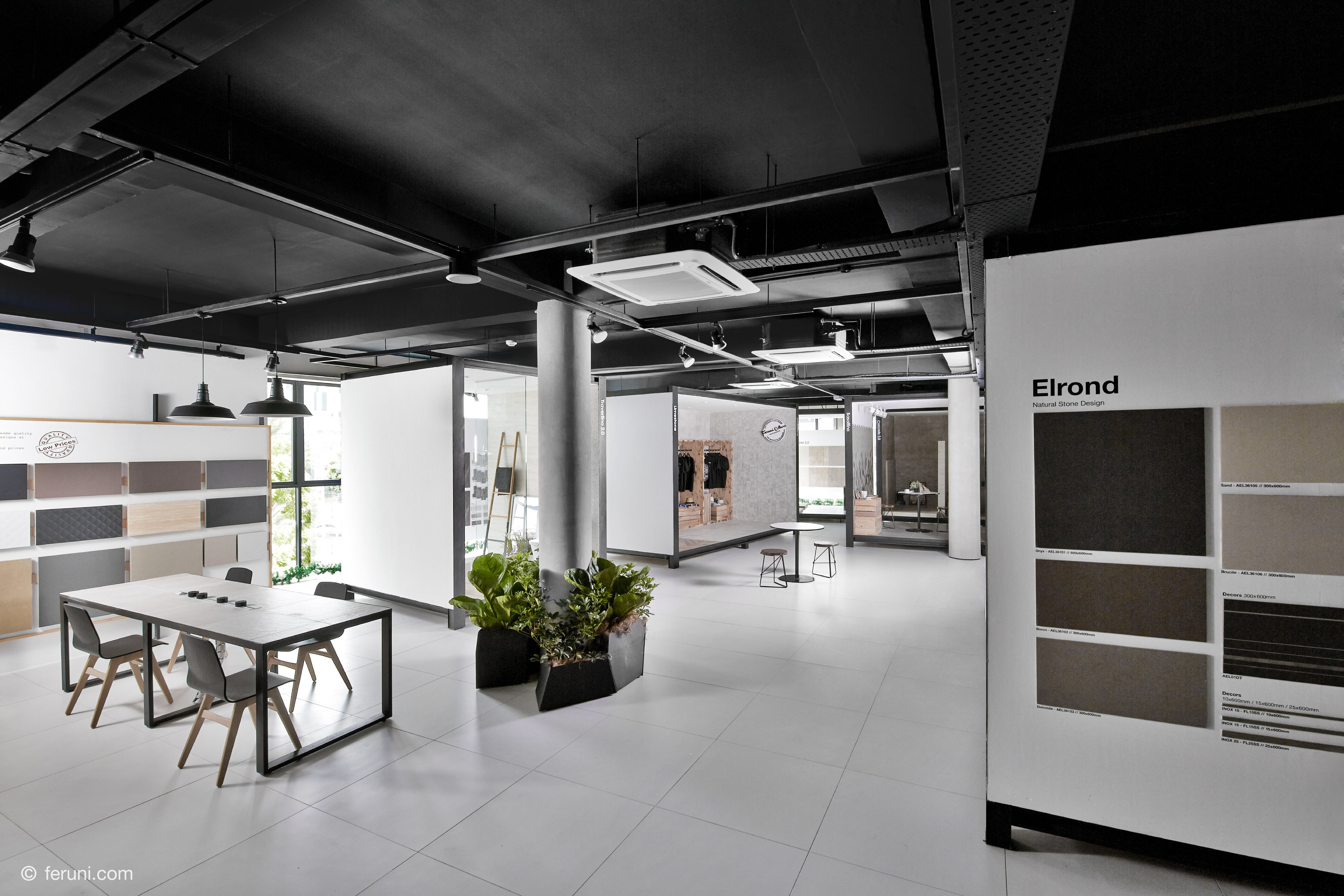 a clean and modern touch to feruni retail store with added  - a clean and modern touch to feruni retail store with added consultationareas for your comfort