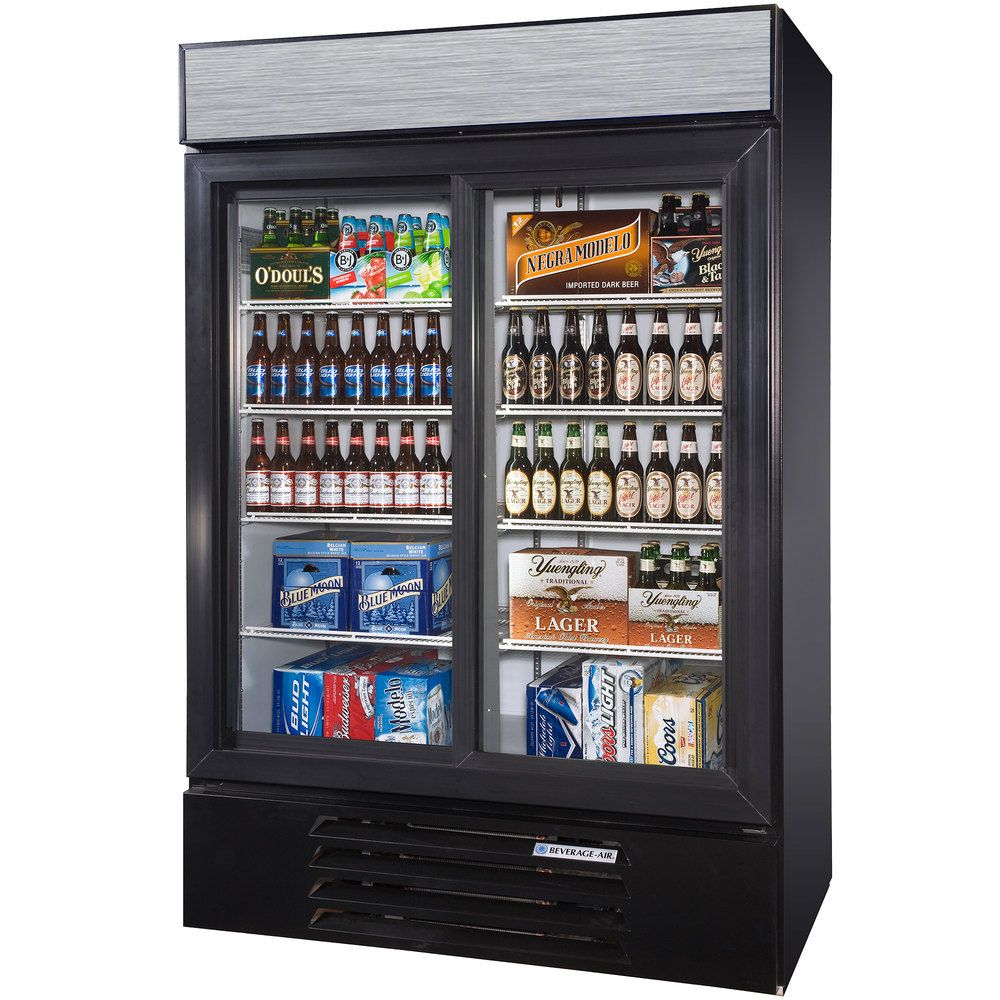 "Beverage Air LV451BLED Black LumaVue 52"" Refrigerated"