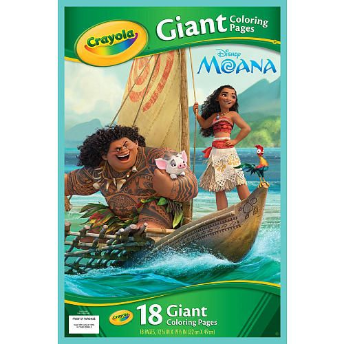 Crayola Giant Coloring Pages - Disney Moana - Crayola - Toys  - new giant coloring pages crayola