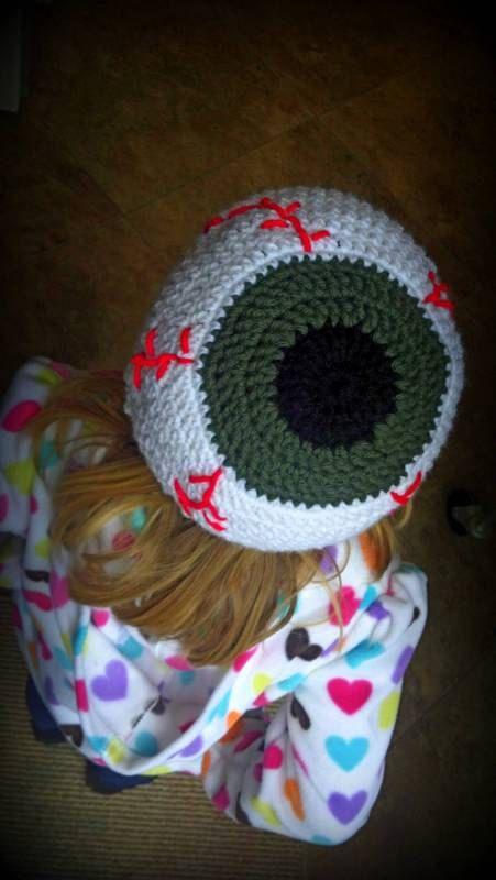 Eye Ball Beanie PDF pattern by CrochetAFlower | Child and fun ...
