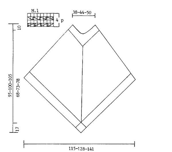 """Moondance / DROPS 64-23 - Poncho de punto DROPS en """"Ull-Bouclé"""", con cuadrados con flor en ganchillo y flecos. - Patrón gratuito de DROPS Design"""