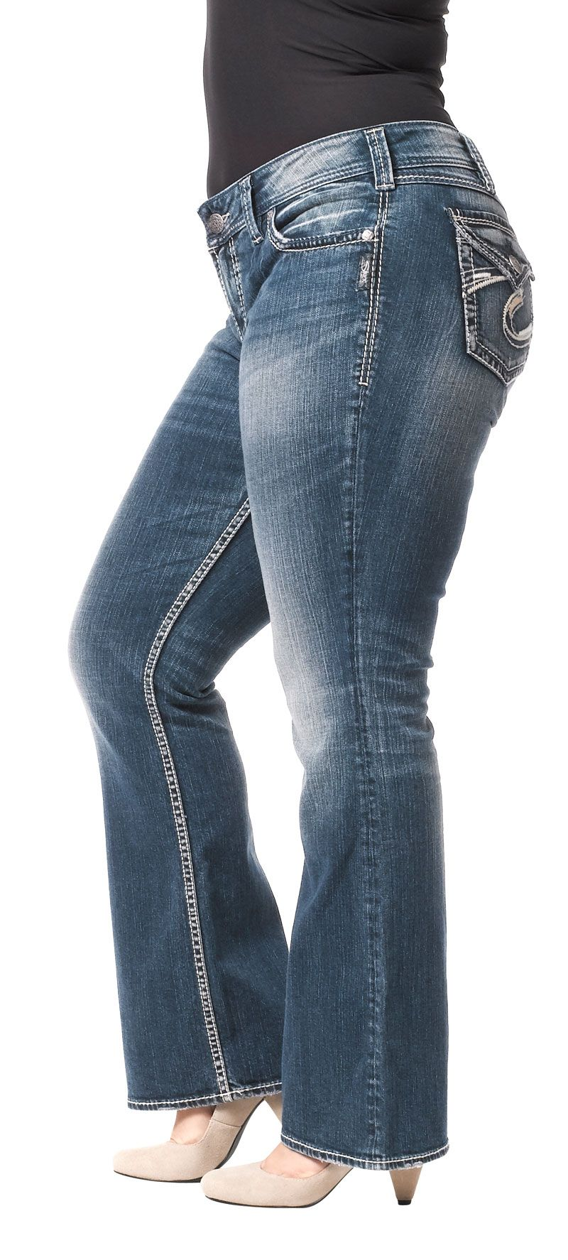 plus size miss me jeans | silver jeans suki surplus plus size